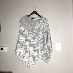 NWOT | WHBM | Silver and White Cape